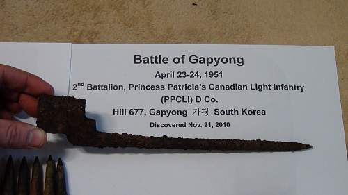Battle of Kapyong Bayonet