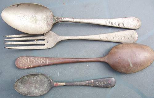 British knives, forks and spoons.