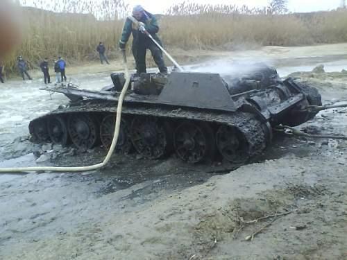Tank T-34/76 found near Stalingrad