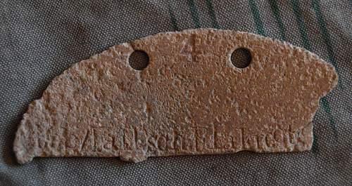 Fallschirm-Flak-Regiment 11 ID tag fragments