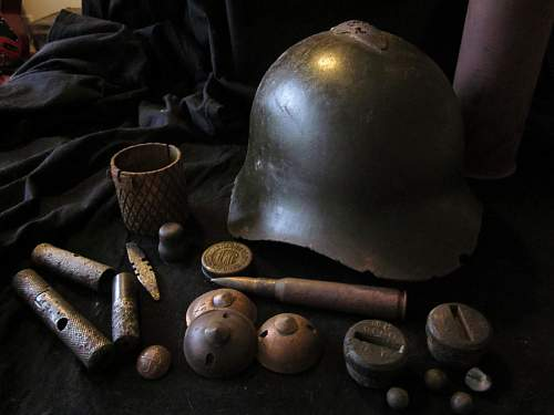 Finnish winter war relics from the battle in Kuhmo in 1939-40