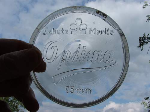 Its a Mystery?, WW2 German glass lid marked 95mm