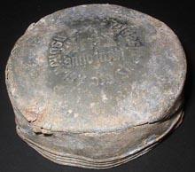 German Zinc lid marked