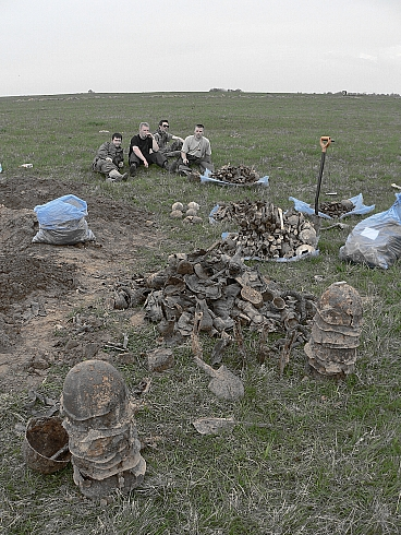 Operation Mars. 1942 year Russia, fields near Rzhew.