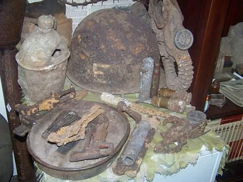 Normandy 326th airborne engineer helmet relic found