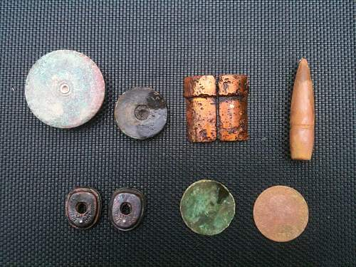 Few finds from the airfield