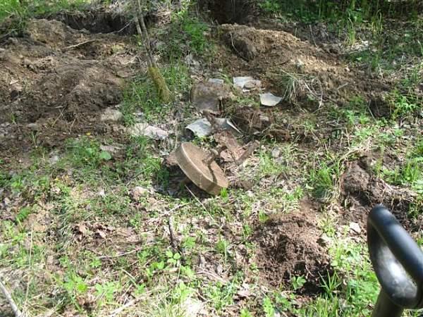 Battle feild relics Auvere Estonia