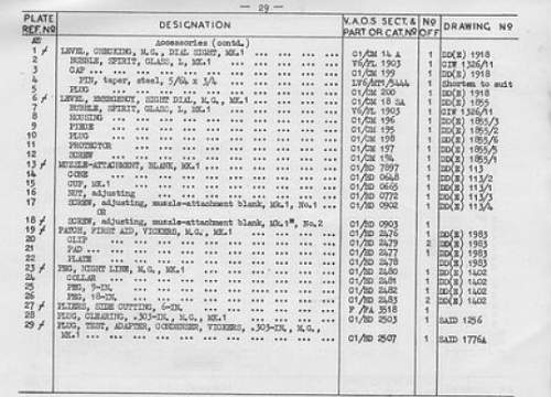 Click image for larger version.  Name:Vickers parts - part ID list.jpg Views:2 Size:145.8 KB ID:245937