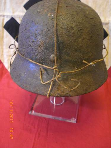 SD luft helmet with bailing wire found SEELOW HEIGHTS