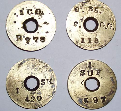 Brass identification plate marked