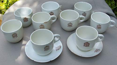 NAAFI cups and saucers (recently dug)