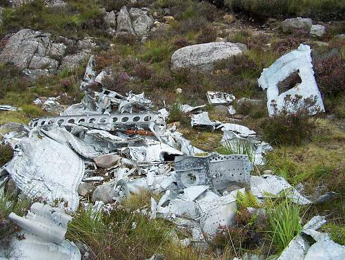 Remains of B24 liberator bomber, near Gairloch Scotland