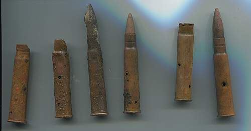 WW1 cartridges from ww2 camp site?? - help on id