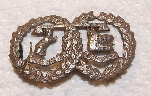 More cap badges and collar tabs