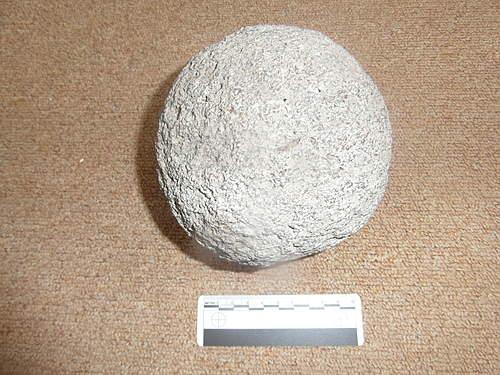 Stone cannon balls?