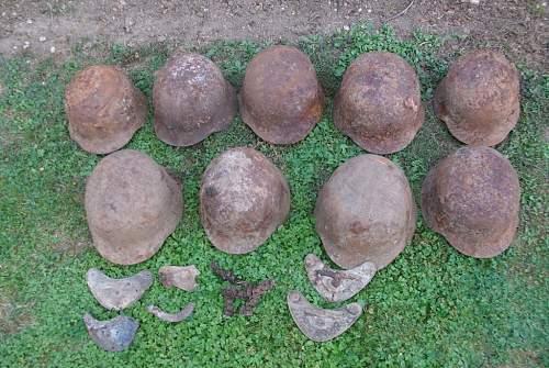 Feldgendarmerie gorgets, ID`s and some helmets