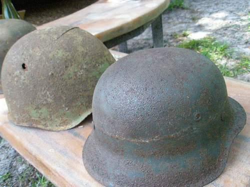 Narva Battlefield Helmet Finds Soviet/ German Relics