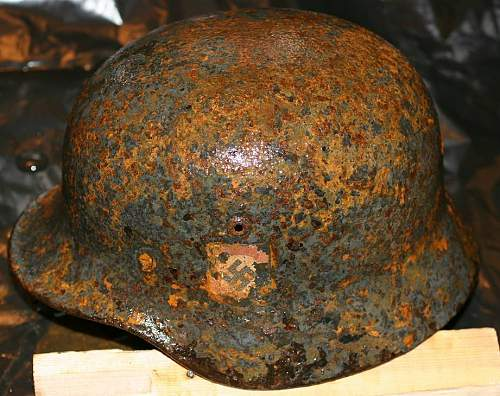 Some of the SS bunker dug helmets