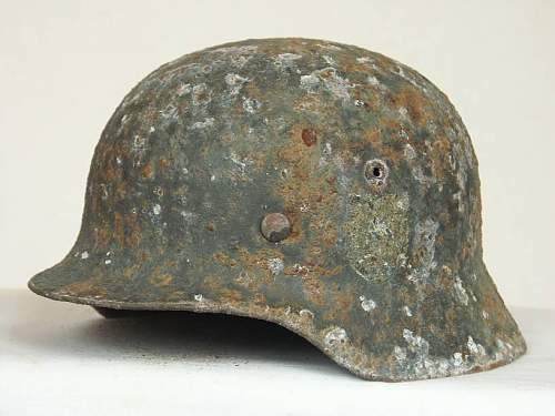Some of the Eastern front steel helmets