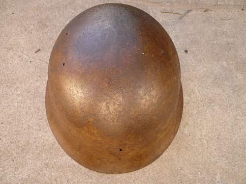 Japanese Type 90 found helmet
