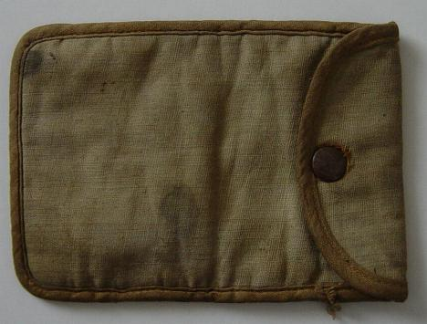 Cloth pouch from Normandy discovered in the 1980's