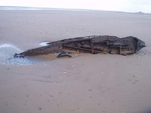 Tanks on a Norfolk beach