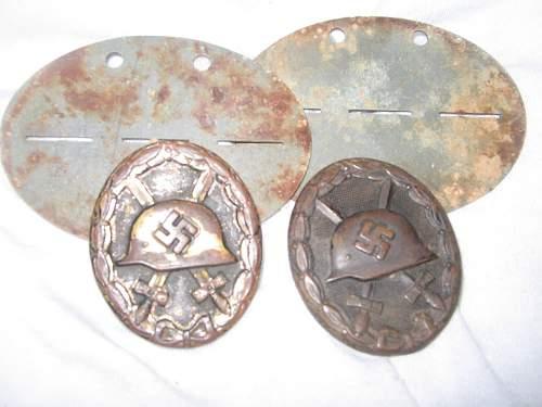 Some ground dug awards from  Kurland Kessel (Latvia)