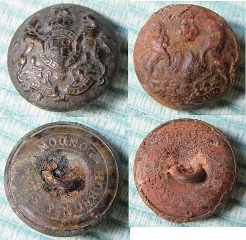 Australian AIF ( or  British ) regimental button ~