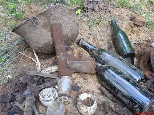 Kurland 1945 year Battlefield finds