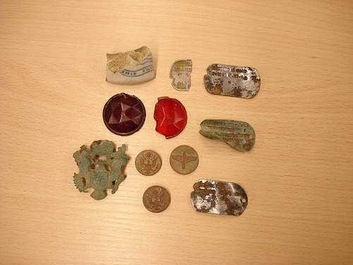 8th Air Force airfield dog tag finds