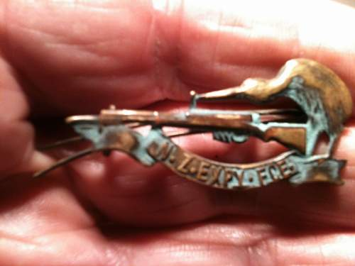 Click image for larger version.  Name:NZ 1st World War Collar Badge (Copy).JPG Views:1 Size:76.9 KB ID:680434