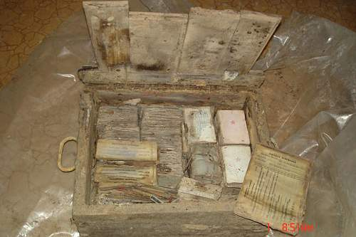 Soviet stuff box with documents found!
