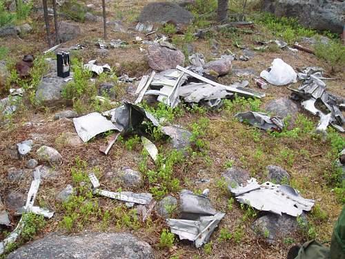 JU87 crashsite in Lapland