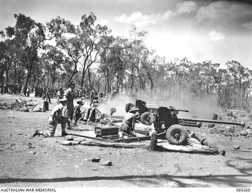 Click image for larger version.  Name:085569 RAVENSHOE AREA, QLD. 1945-01-13. 2 3 TANK ATTACK REGIMENT TROOPS ENGAGED IN LINE FIRING D.JPG Views:1 Size:209.1 KB ID:696988