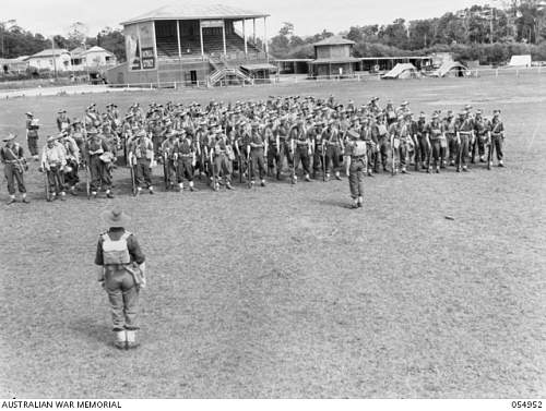 Click image for larger version.  Name:054952 MALANDA, QLD, 1943-07-30. KIT INSPECTION AND GENERAL PARADE OF THE 2 2ND AUSTRALIAN INFAN.jpg Views:2 Size:208.1 KB ID:708225