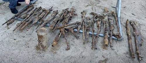 22 rifles from ww2 found at school in Denmark.