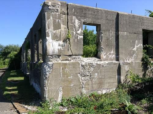 Boston WW2, harbor island ruins.