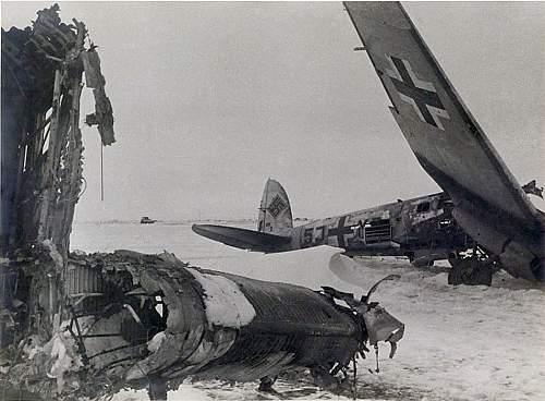 Click image for larger version.  Name:He111 7.KG4 7117 - hit a bomb crater landing at Gumrak 0n 17th Jan. crew of Ltn. Spannbauer safe.jpg Views:8 Size:208.0 KB ID:835236