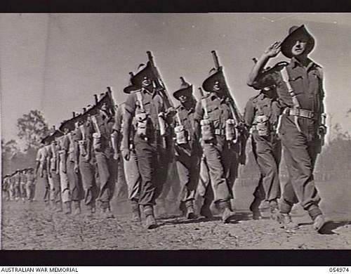 Click image for larger version.  Name:KAIRI, QLD. 1943-07-31. 2 28TH BATTALION, 24TH AUSTRALIAN INFANTRY BRIGADE, LED BY WX7500 CAPTAI.JPG Views:1 Size:210.2 KB ID:886953