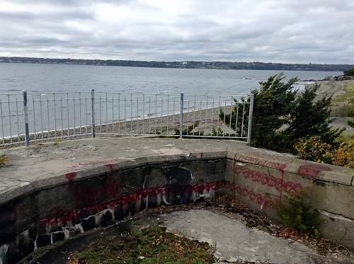 Boston WW2, harbor islands ruins/bunkers.