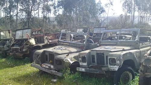 trip to small military junkyard