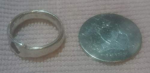 Click image for larger version.  Name:Dwaynes first shilling and the Trench art  ring.jpg Views:1 Size:253.8 KB ID:961651