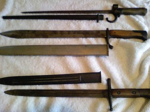 Old bayonets