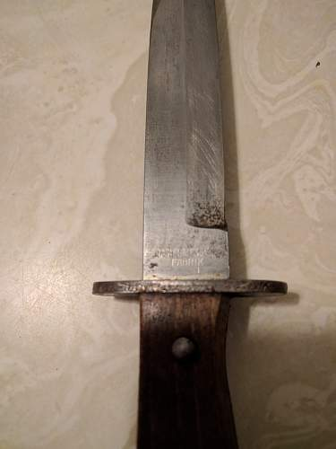 WW1 Imperial German trench fighting knife