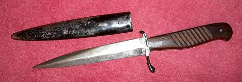 WWI boot/fighting/trench knife and sheath