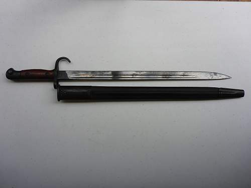 Hooked Quillon P1907 Queensland Police Bayonet