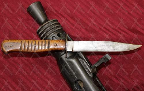 """The same make/model of """"Mr. Battle of the Bulge's"""" private purchased German Trench Knife."""