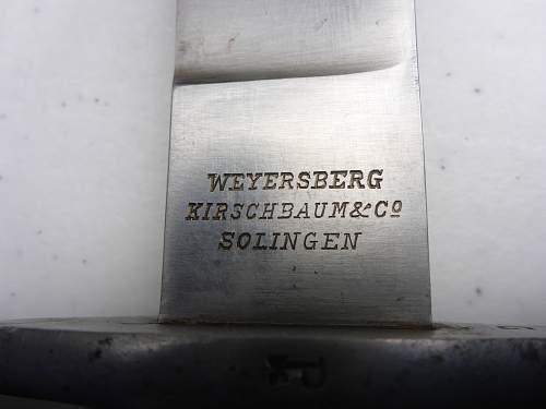 Argentine Machete de Artillería 1909 1st Modelo