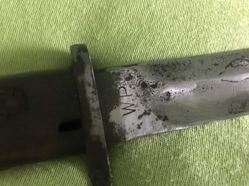Unknown bayonet made by Radom?
