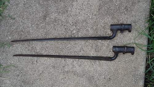 1800s socket bayonets.
